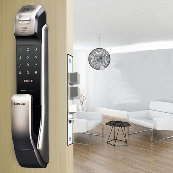 02 SAMSUNG-SHP-DP728-Keyless-BlueTooth-Fingerprint-PUSH-PULL-Digital-Door-Lock-Silver-3