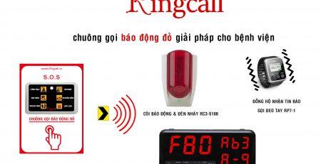 Lắp đặt chuông gọi y tá không dây Ringcall nhập khẩu Hàn quốc